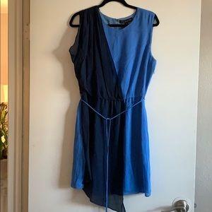 Silk knee high dress.